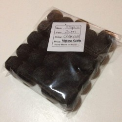 1.5cm Charcoal Colour Felt Balls