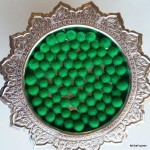 1cm Bright Green Felt Balls