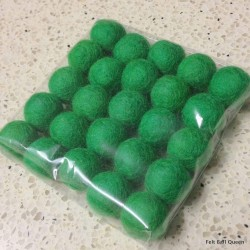 2cm Bright Green Felt Balls