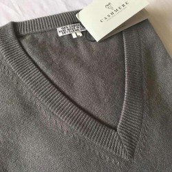 Men's Cashmere Sweater - Grey