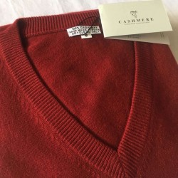 Men's Cashmere Sweater - Maroon