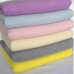 100% Cashmere Plain Knit Baby Blanket