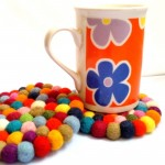 10cm Multicolour Tea Coasters by Mimosa Crafts