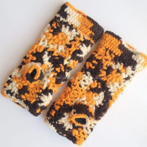 Hand Knitted Woollen Hand Warmers by www.mimosacrafts.com.au