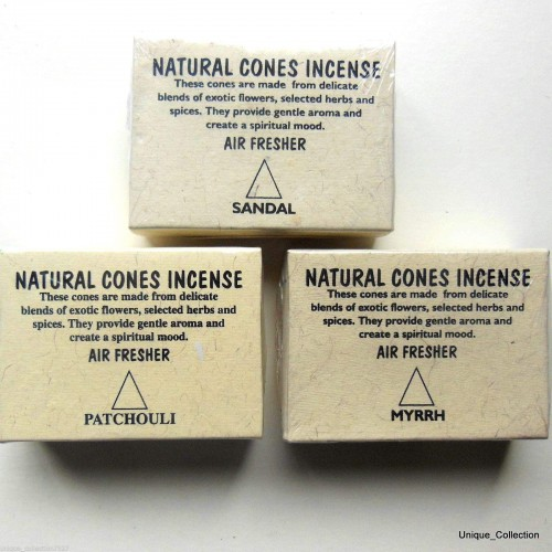Natural Cone Incense Air Freshener by www.mimosacrafts.com.au