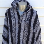Men's Poncho Hoodie - Mexican Style Cotton Cape