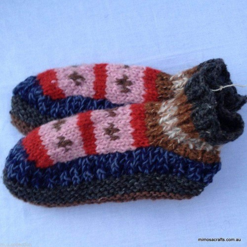 Hand Knitted Wool Socks KS-05 by www.mimosacrafts.com.au