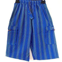 Blue Stripe Summer Light Cotton  Shorts