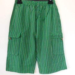 Green Casual Summer Light Cotton  Shorts