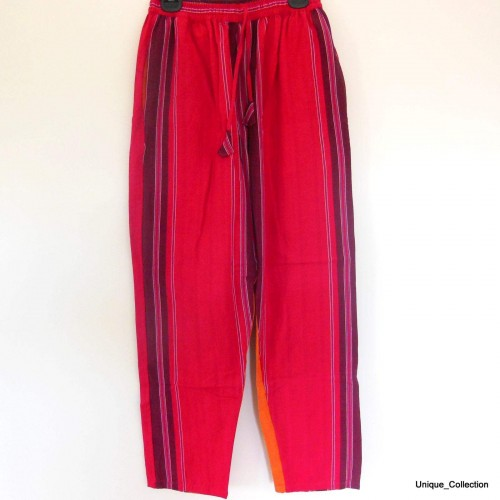 Red & Yellow Stripped Funky Thick Cotton Trouser by www.mimosacrafts.com.au