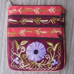 Floral Hand Embroidered Multi Purpose Bag by Mimosa Crafts