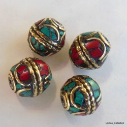 BD-116 Turquoise Coral Jewelry Beads