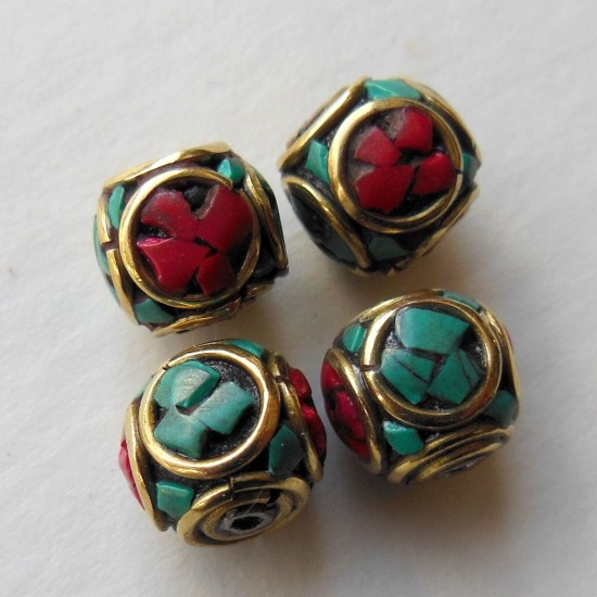 Turquoise Coral Cube Beads BD-127