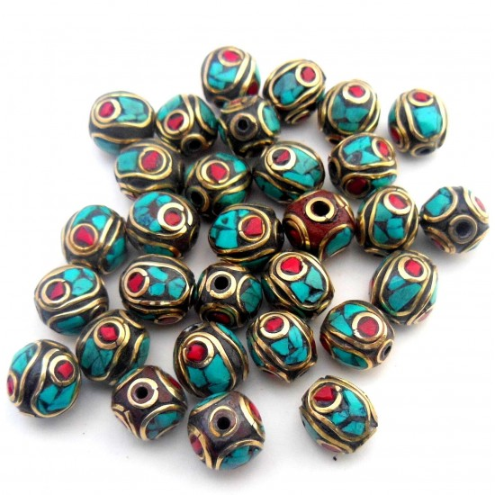 Turquoise Coral Jewellery Beads BD-182