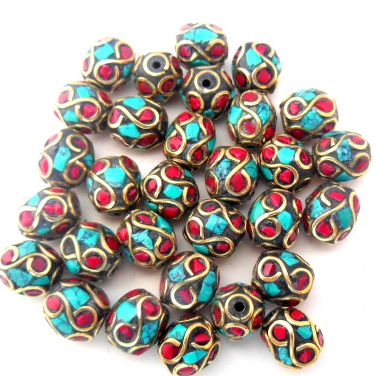 Turquoise Coral Jewellery Beads BD-185