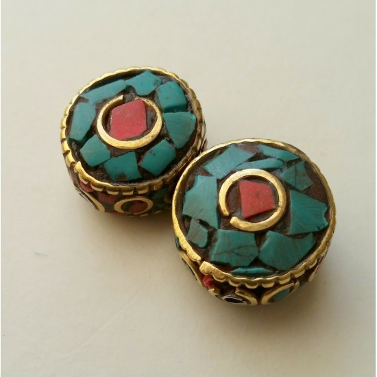 Turquoise & Coral Beads BD-206