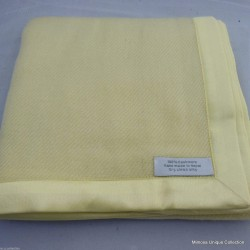 100% Cashmere Yellow Baby Blanket
