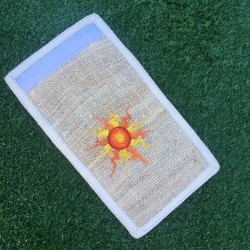 Sun Embroidered Eco-Friendly Hemp Wallet
