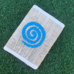 Spiral Embroidered Eco-Friendly Hemp Wallet