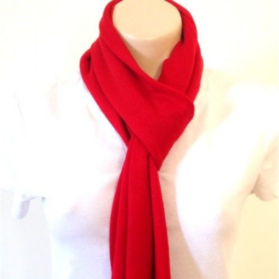 Red Hand-Knitted Warm Cashmere Shawl